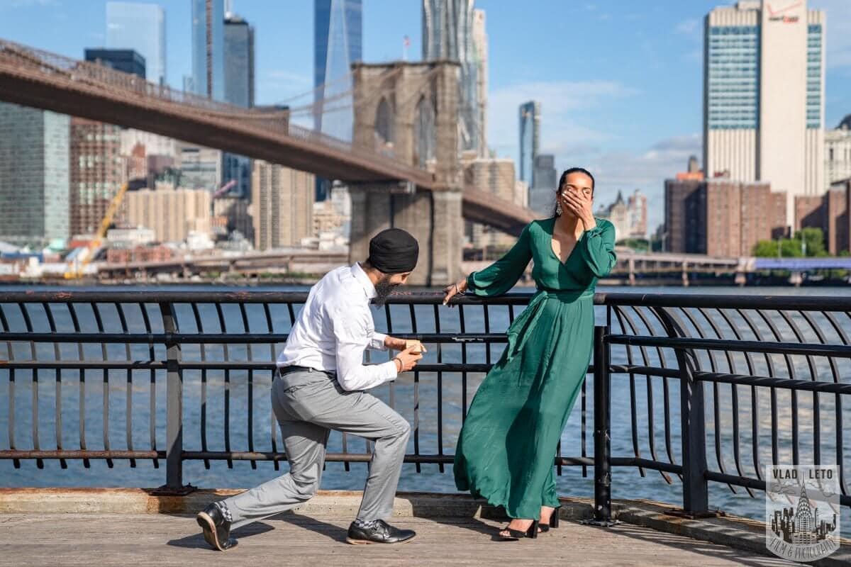Photo BEST Proposal Reaction! Brooklyn bridge park.   VladLeto