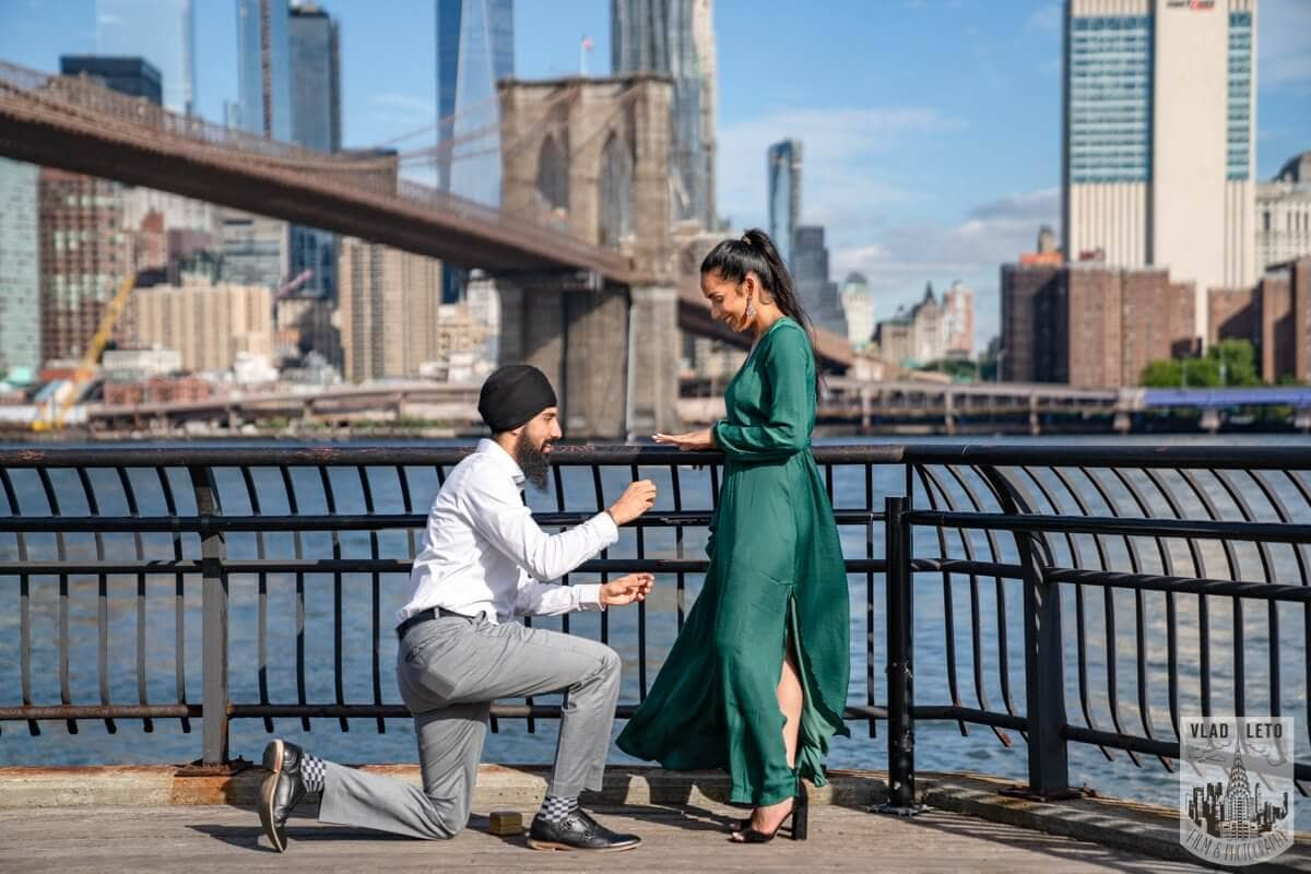 Photo 2 BEST Proposal Reaction! Brooklyn bridge park.   VladLeto