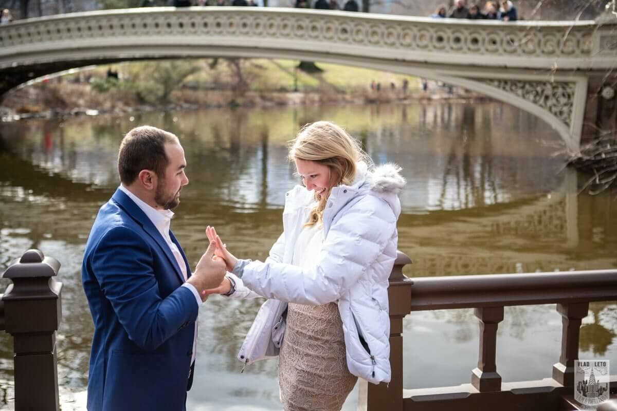 Photo 3 Marriage Proposal by Bow Bridge in Central Park. | VladLeto