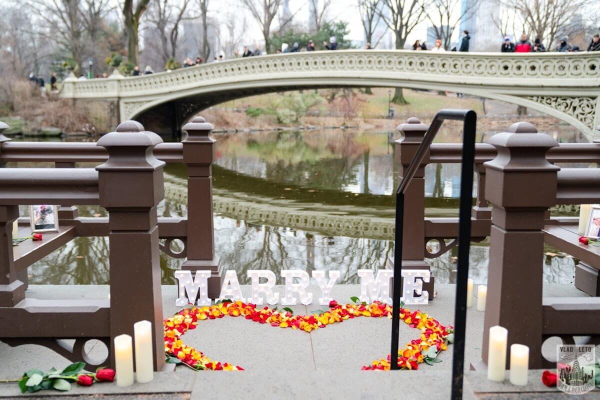 Photo Central Park Marriage Proposal by Bow Bridge.   VladLeto