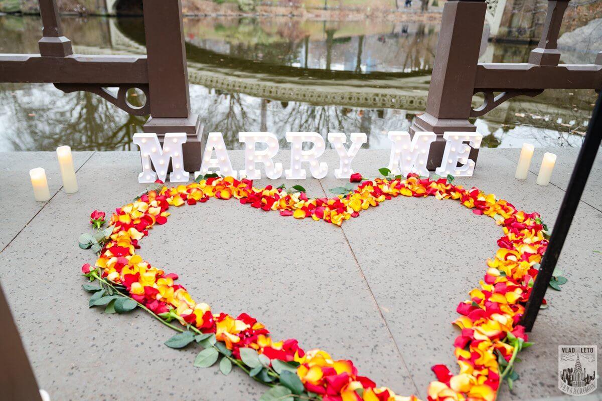 Photo 2 Central Park Marriage Proposal by Bow Bridge.   VladLeto