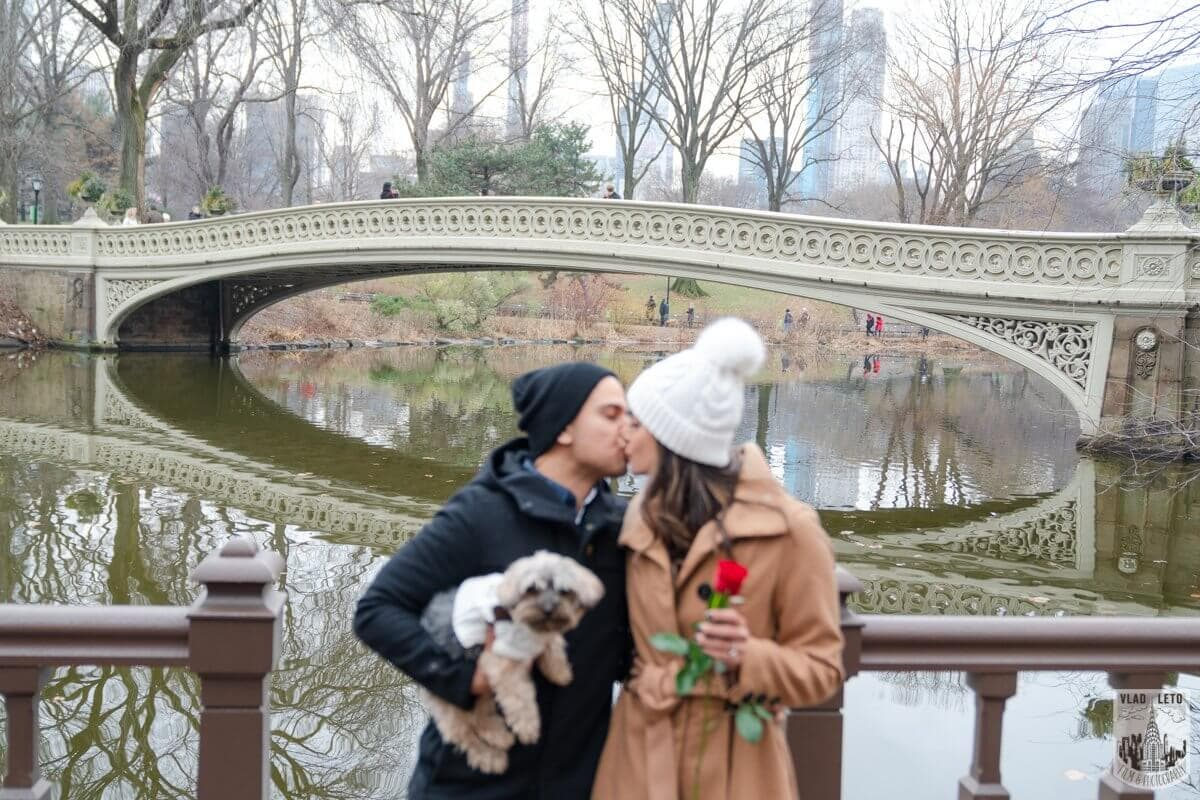 Photo 5 Central Park Marriage Proposal by Bow Bridge.   VladLeto