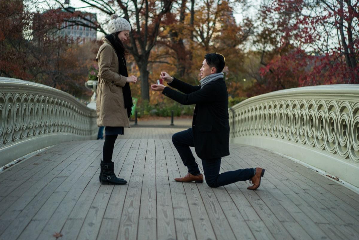Photo Bow Bridge Marriage proposal. NYC | VladLeto