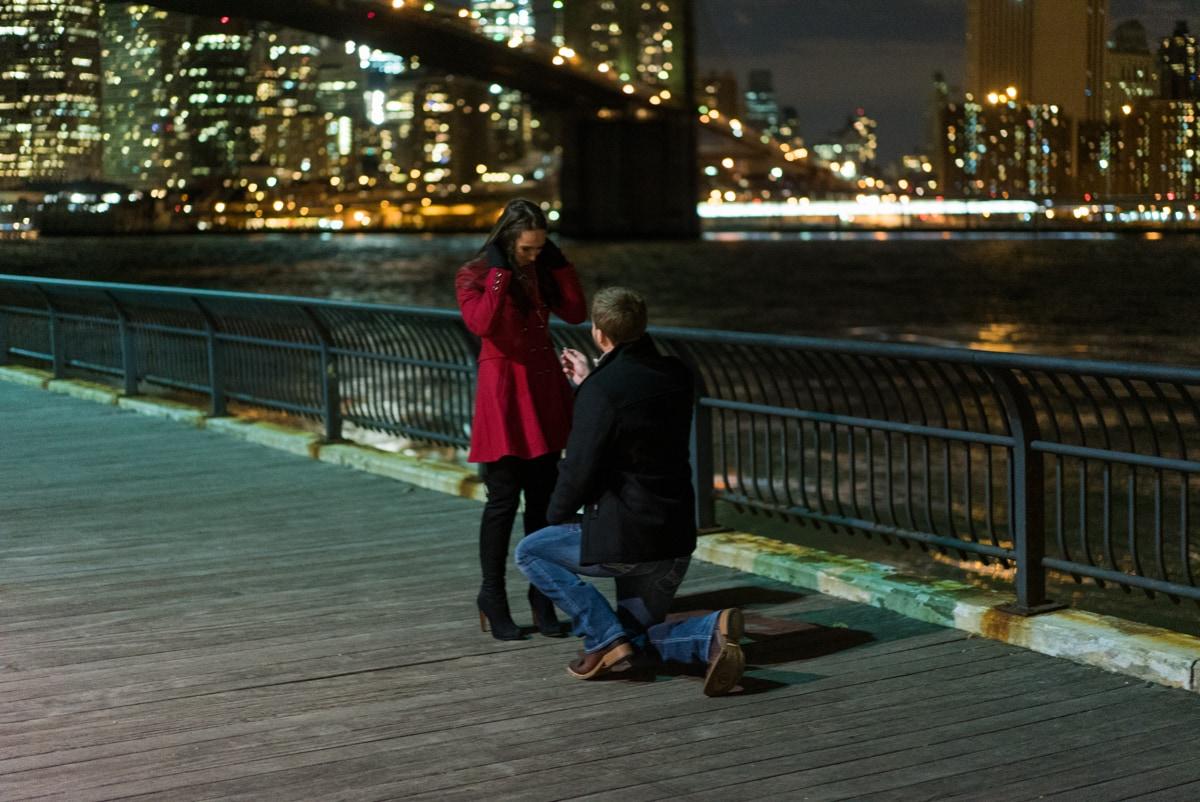 Photo 2 Brooklyn Bridge park marriage proposal.   VladLeto