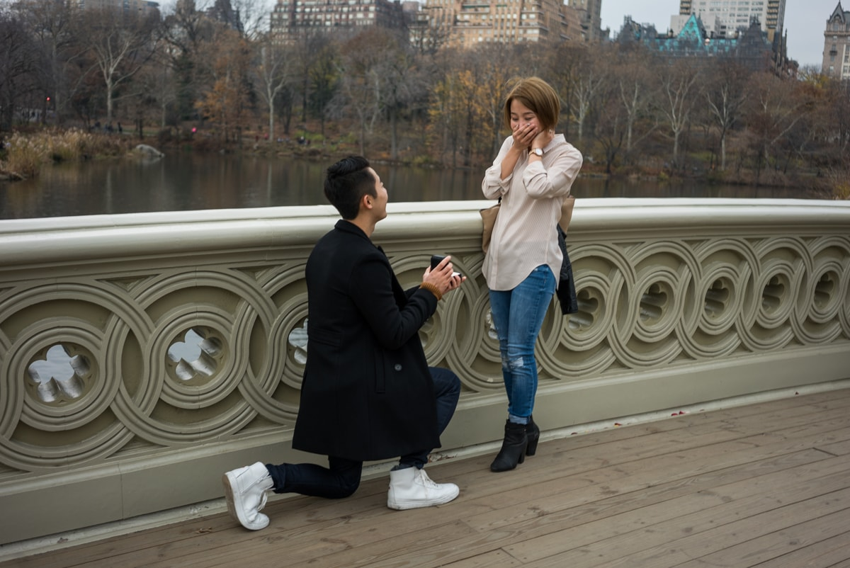 Photo Bow Bridge Marriage proposal NYC | VladLeto