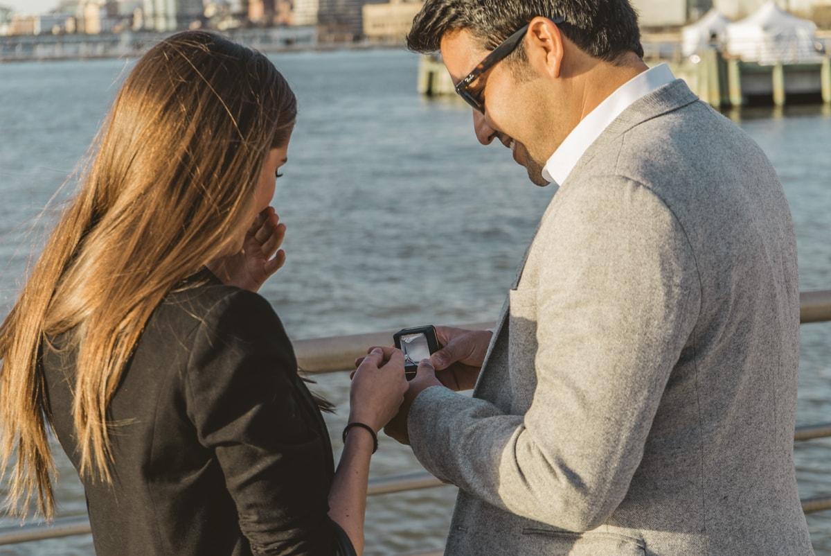 Photo 2 Marriage proposal at Pier 25, Hudson River Park, NYC. | VladLeto