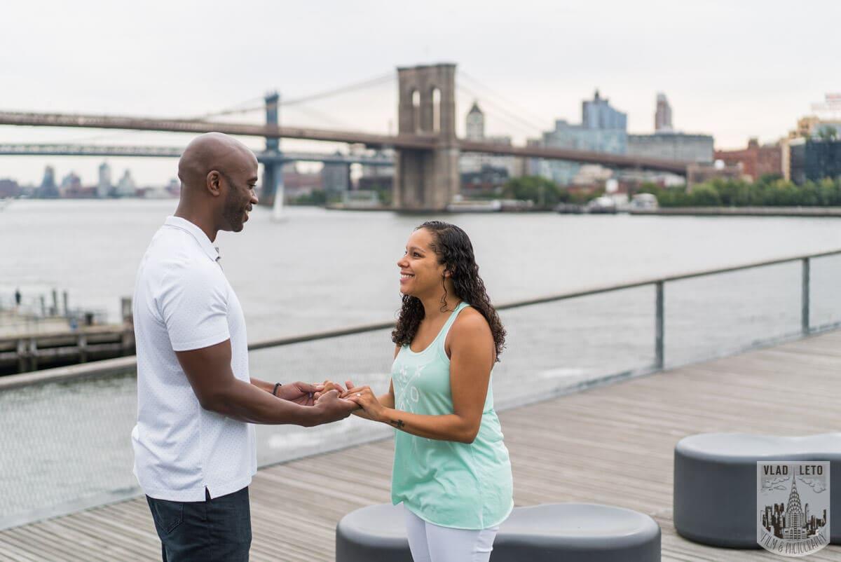 Photo 2 Brooklyn Bridge view Wedding Proposal. | VladLeto