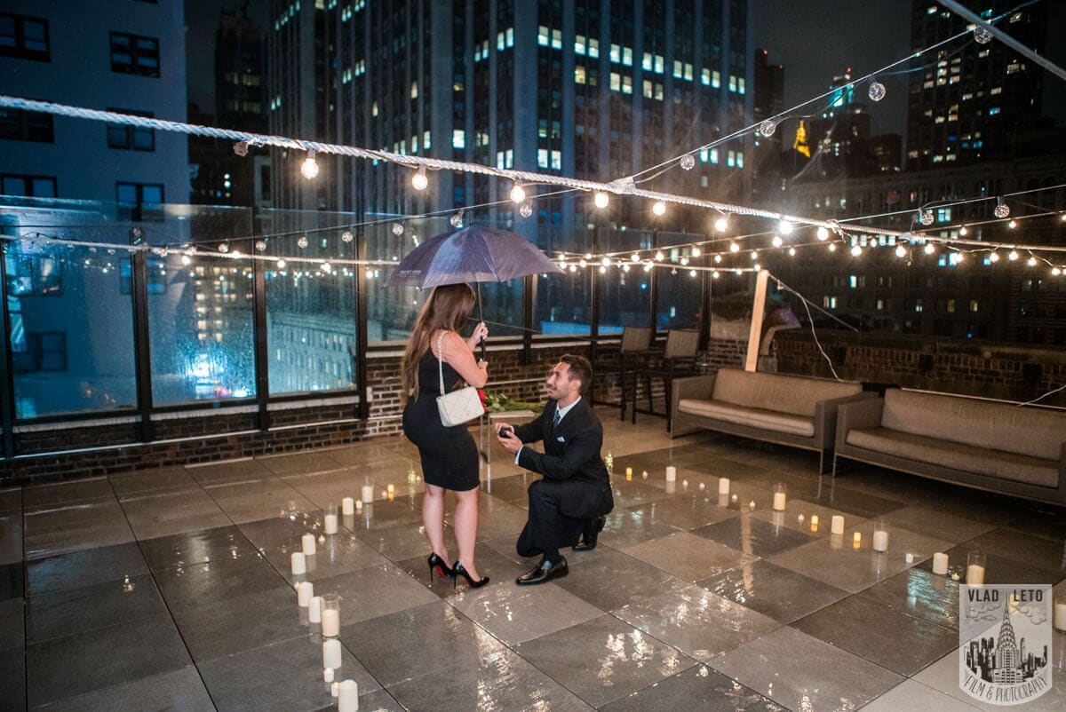 Photo Rooftop Proposal with Empire State Building view | VladLeto