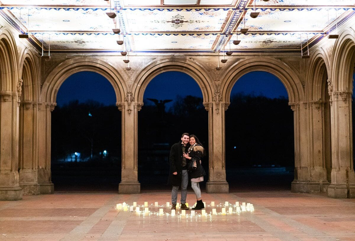 Photo 2 Marriage Proposal at Bethesda Terrace in Central Park. | VladLeto