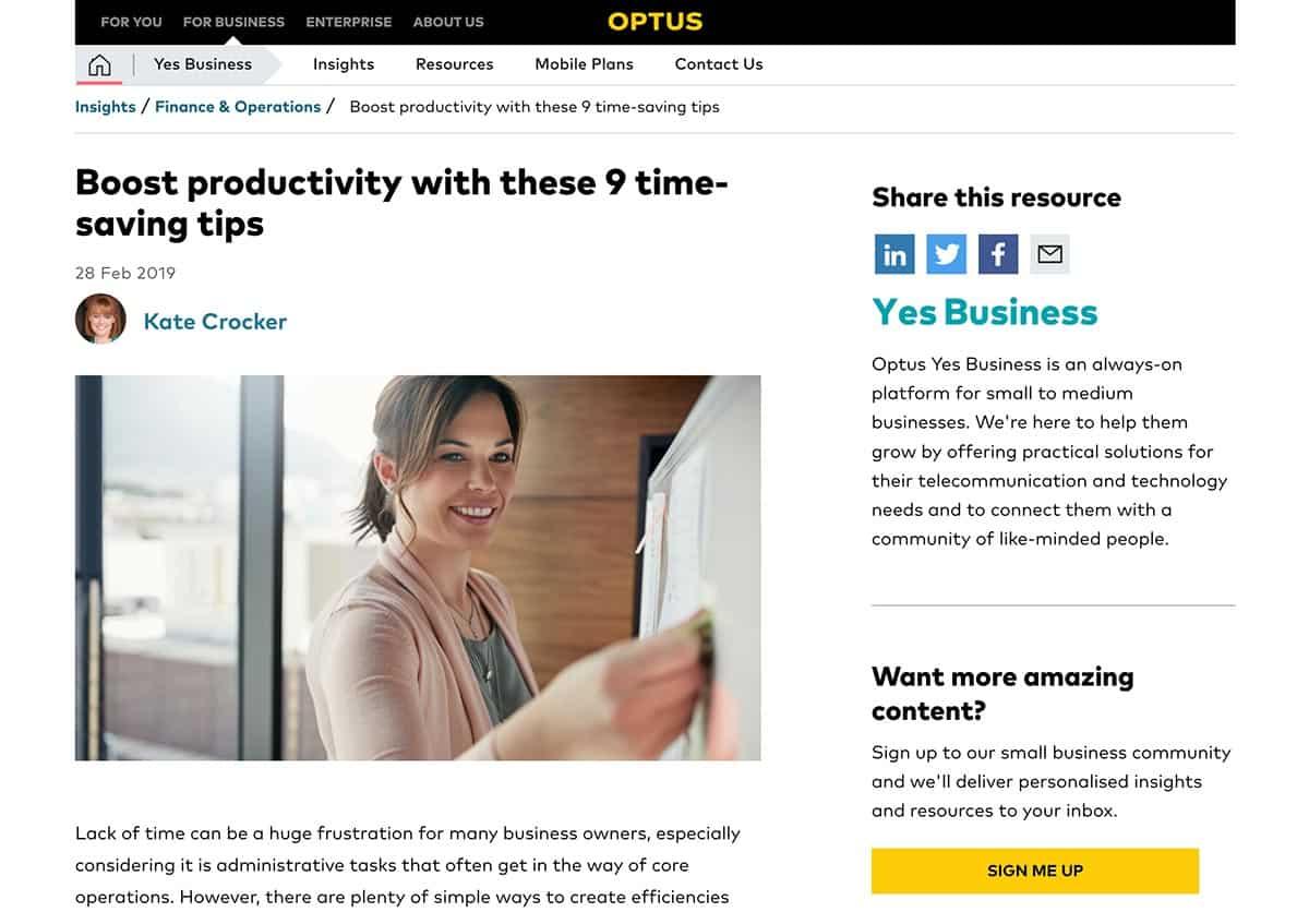 Boost Productivity