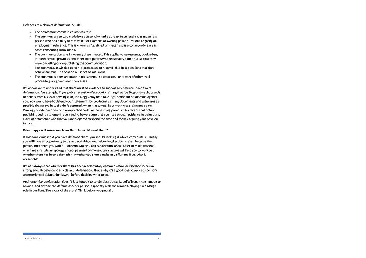 Defamation page 2