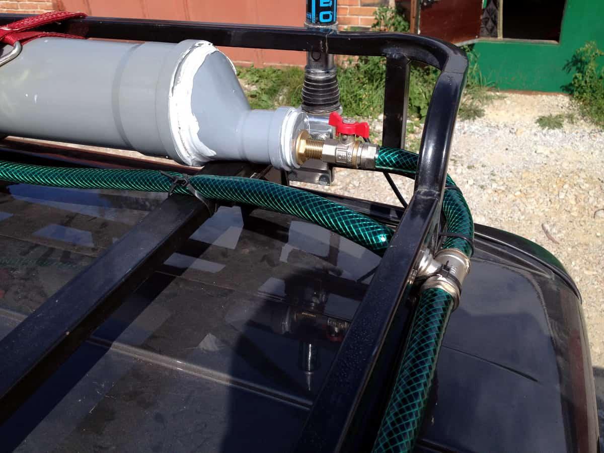самодельный автодуш из пвх труб