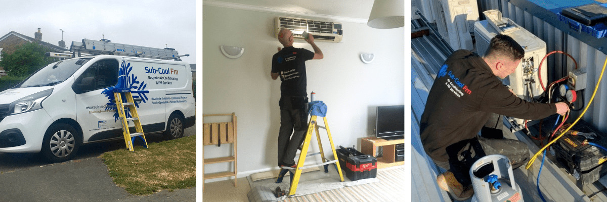 SubCool FM van and engineers undertaking domestic and commercial services - 3 pictures
