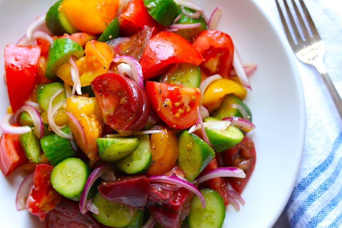 Cucumber Tomato Salad Recipe   The Hungry Hutch