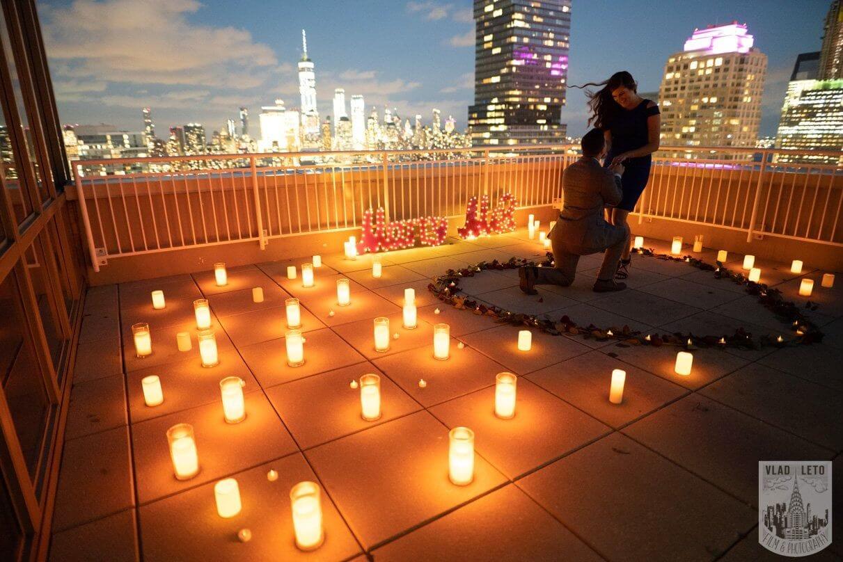 Photo 2 Jersey City Rooftop Proposal | VladLeto