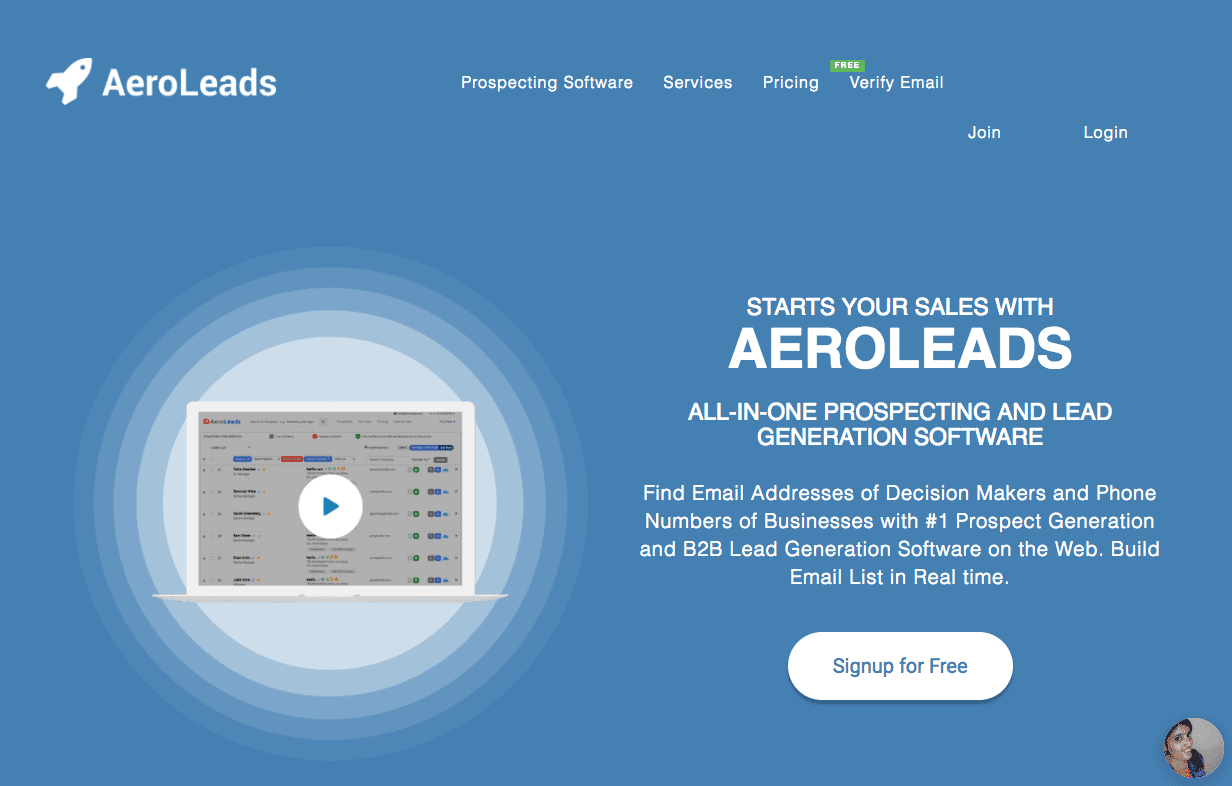 outils fichier prospection aeroleads