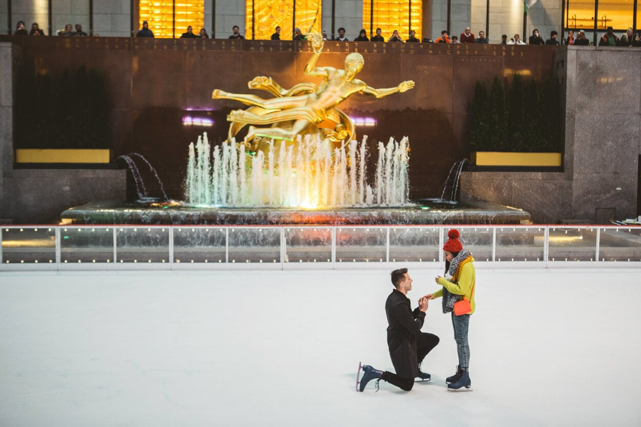 Photo 2 Ice Skating Marriage Proposal. The Rink at Rockefeller Center. | VladLeto