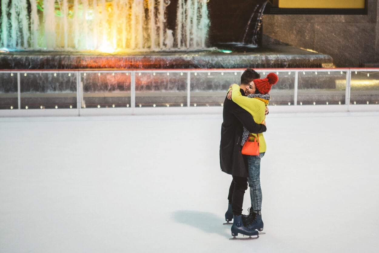 Photo 6 Ice Skating Marriage Proposal. The Rink at Rockefeller Center. | VladLeto