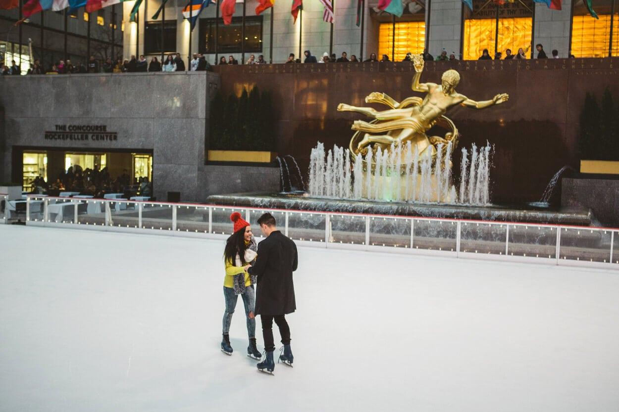 Photo 7 Ice Skating Marriage Proposal. The Rink at Rockefeller Center. | VladLeto