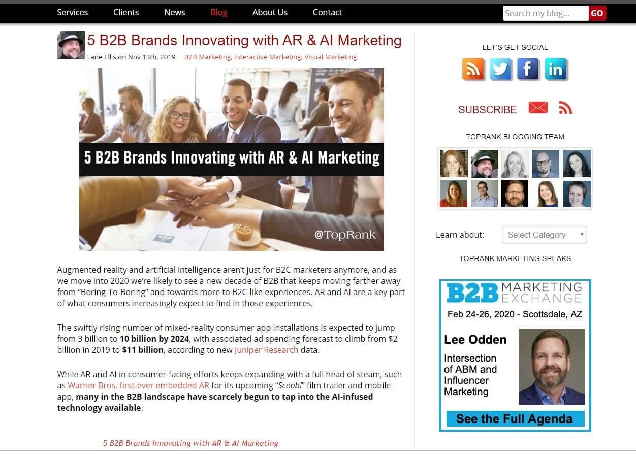 Top Rank Marketing blog