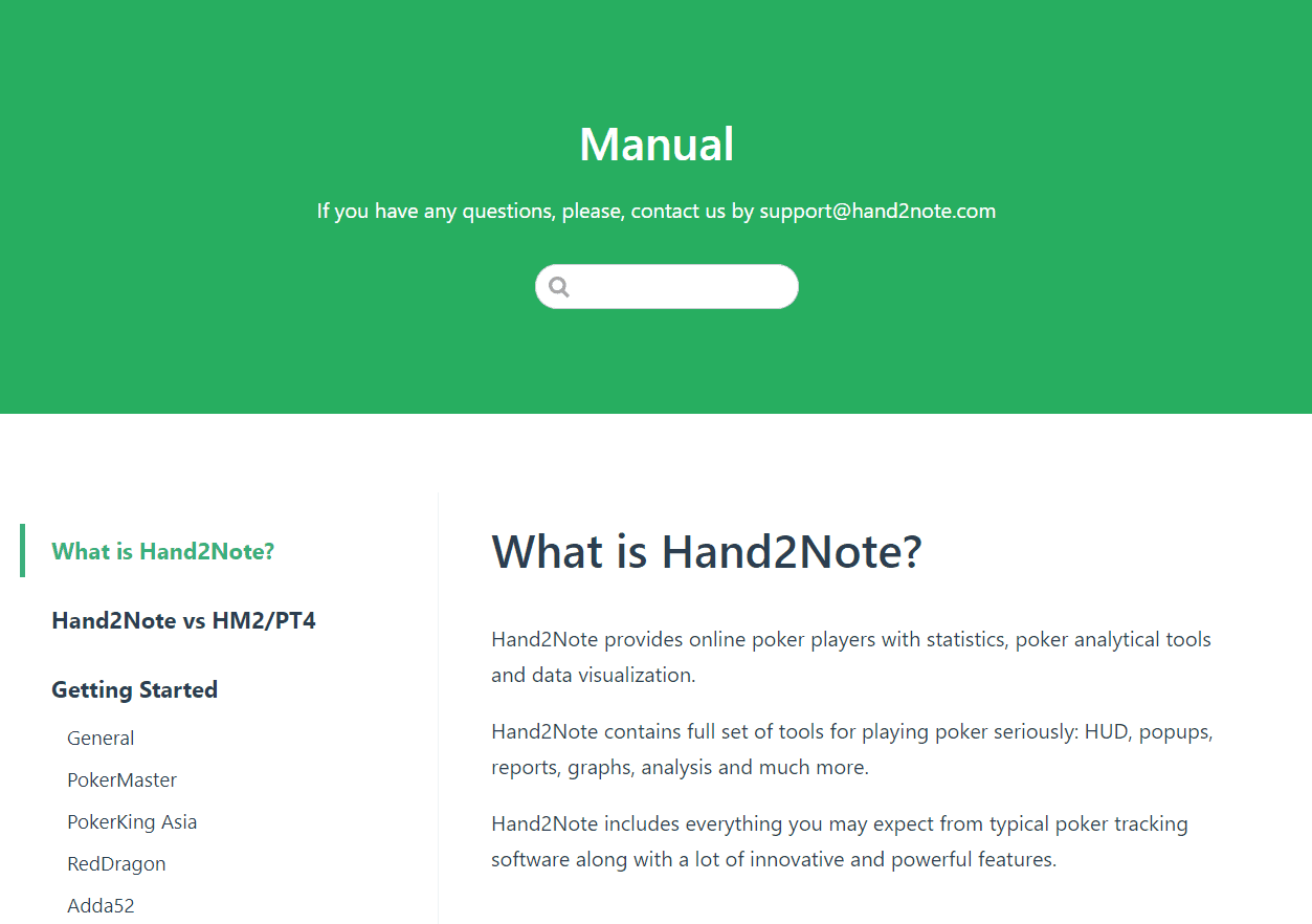 Hand2Note manual