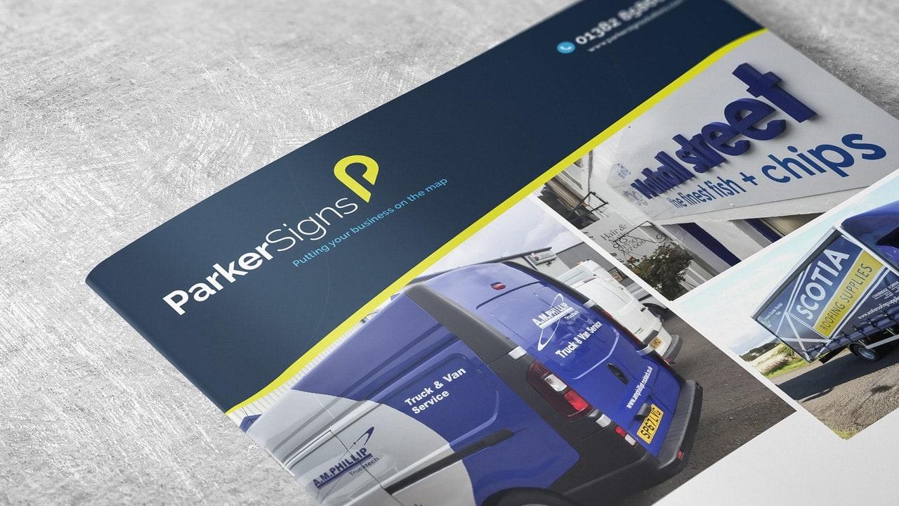 Parker Signs Brochure Design