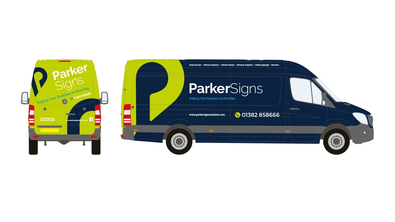 Parker Signs Dundee Vehicle Graphics