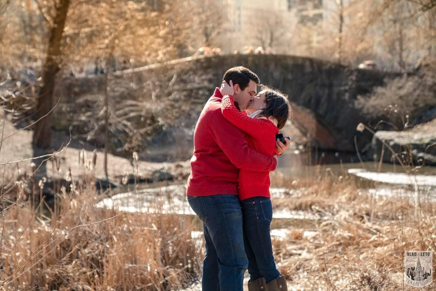 Photo 3 Gapstow bridge Marriage proposal in Central Park   VladLeto
