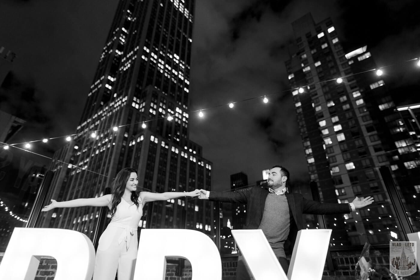 Photo 6 Gigantic Marry Me Letters Rooftop Proposal | VladLeto