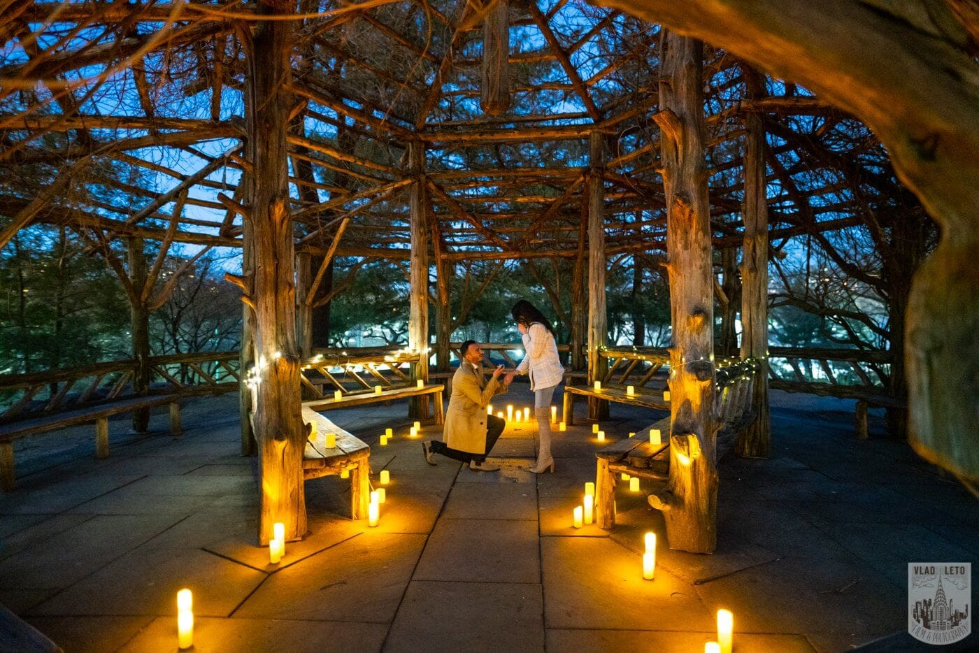 Photo 2 Night Proposal with Candles in Central Park | VladLeto