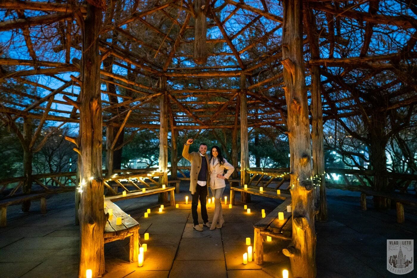 Photo 5 Night Proposal with Candles in Central Park | VladLeto