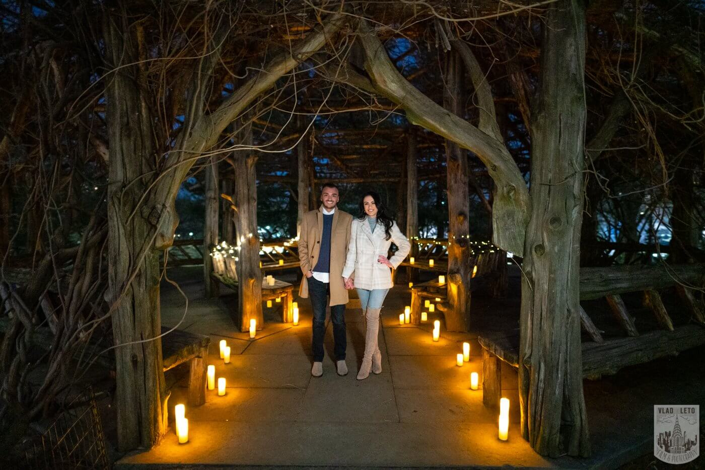 Photo 6 Night Proposal with Candles in Central Park | VladLeto