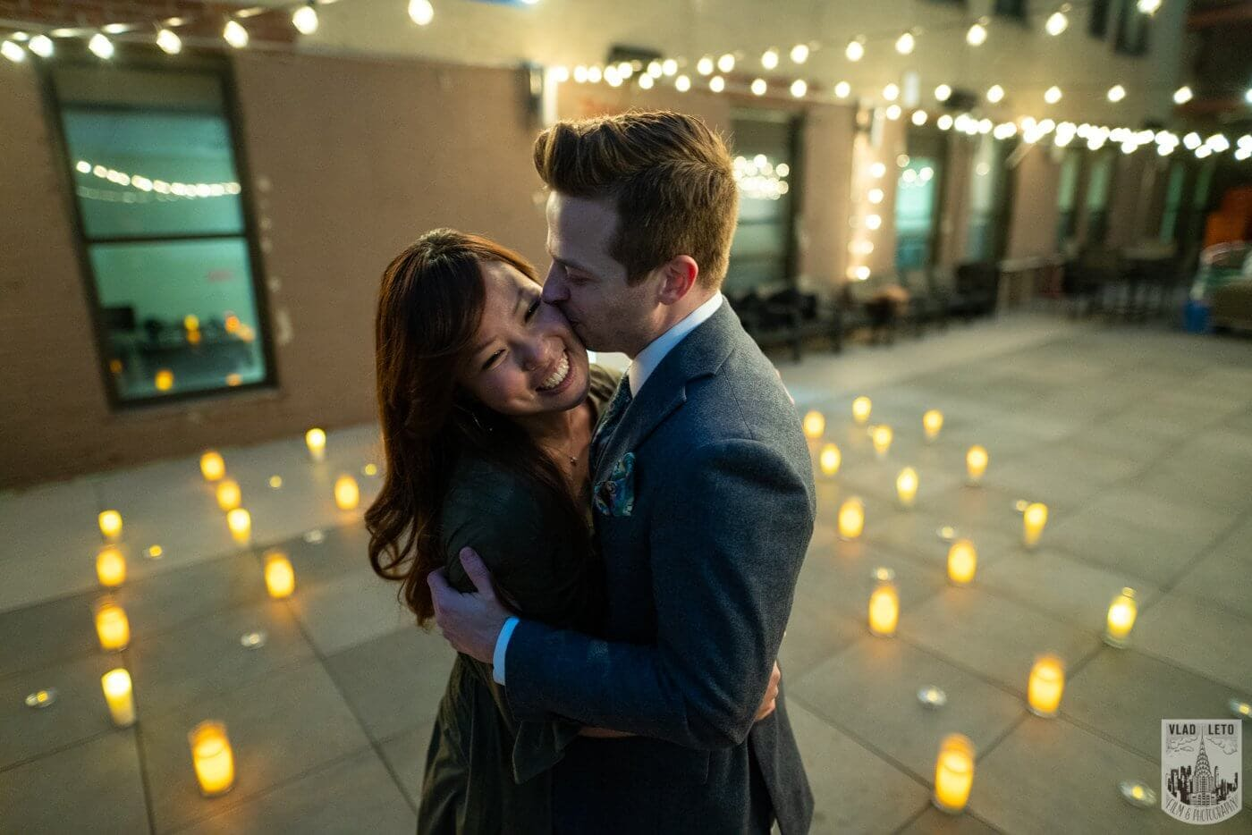 Photo 4 Wedding proposal on a private rooftop with Empire State building view.   VladLeto