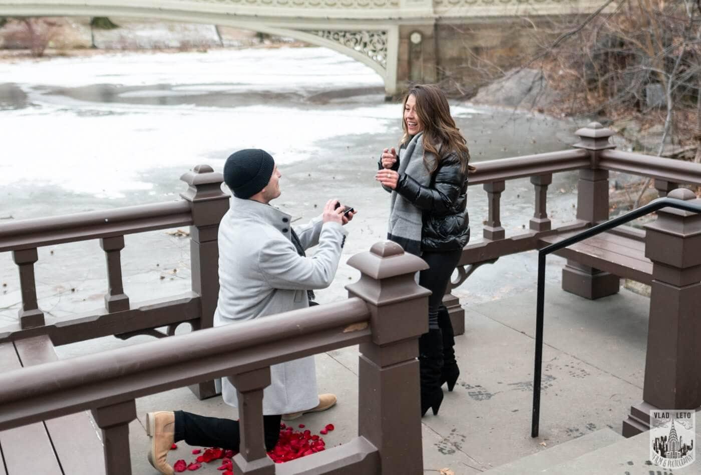 Photo Bow bridge surprise marriage proposal.   VladLeto