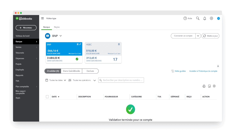 QuickBooks Expense Tracking