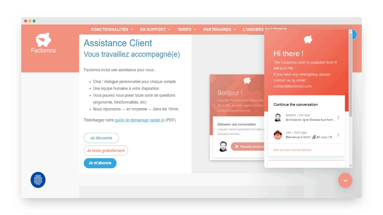 Support Client Factomos