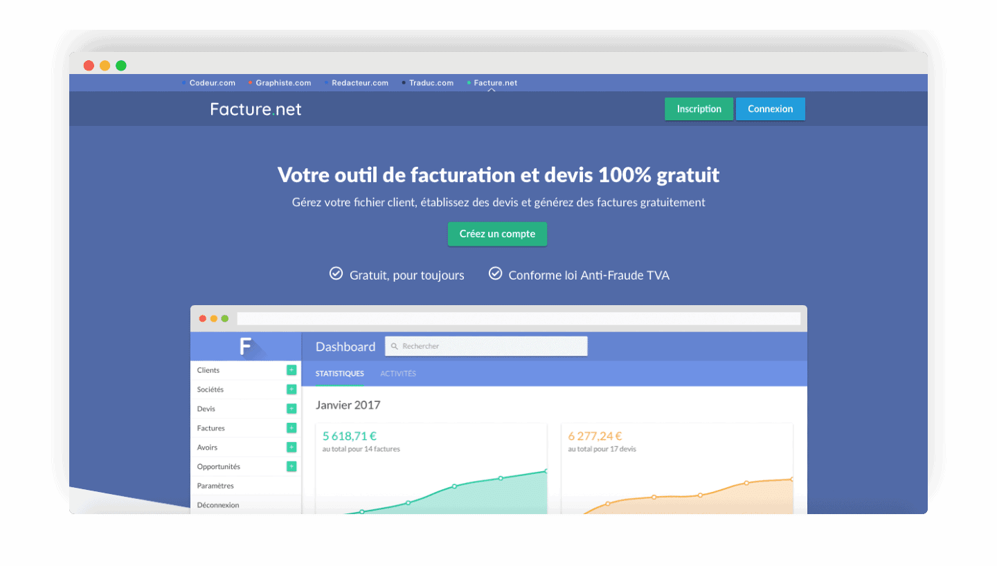 facture.net homepage