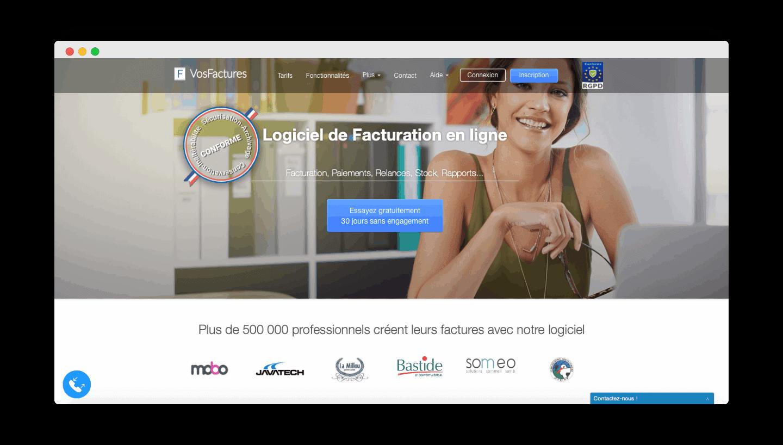 vosfactures homepage