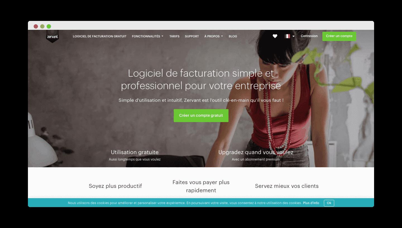 zervant homepage