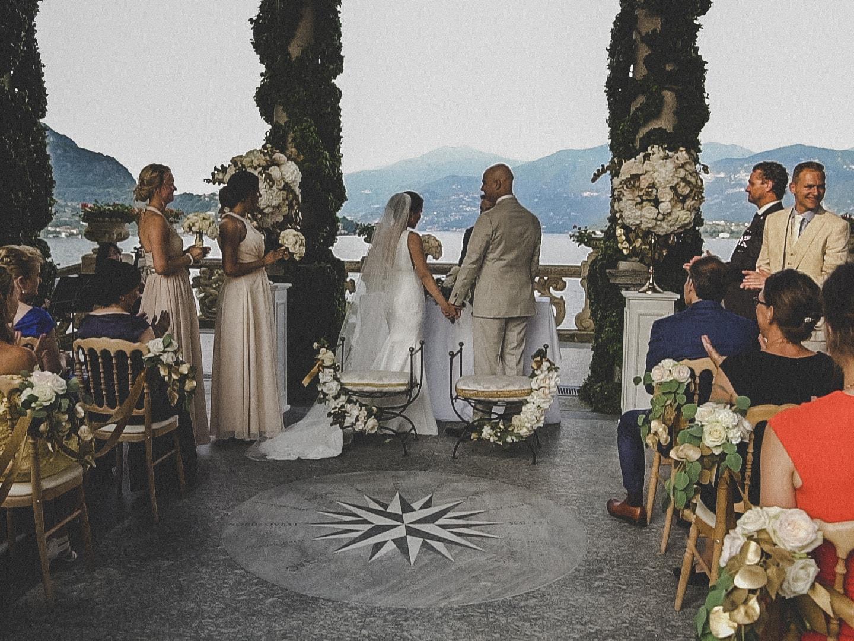 Ceremony on the shore of Lake Como