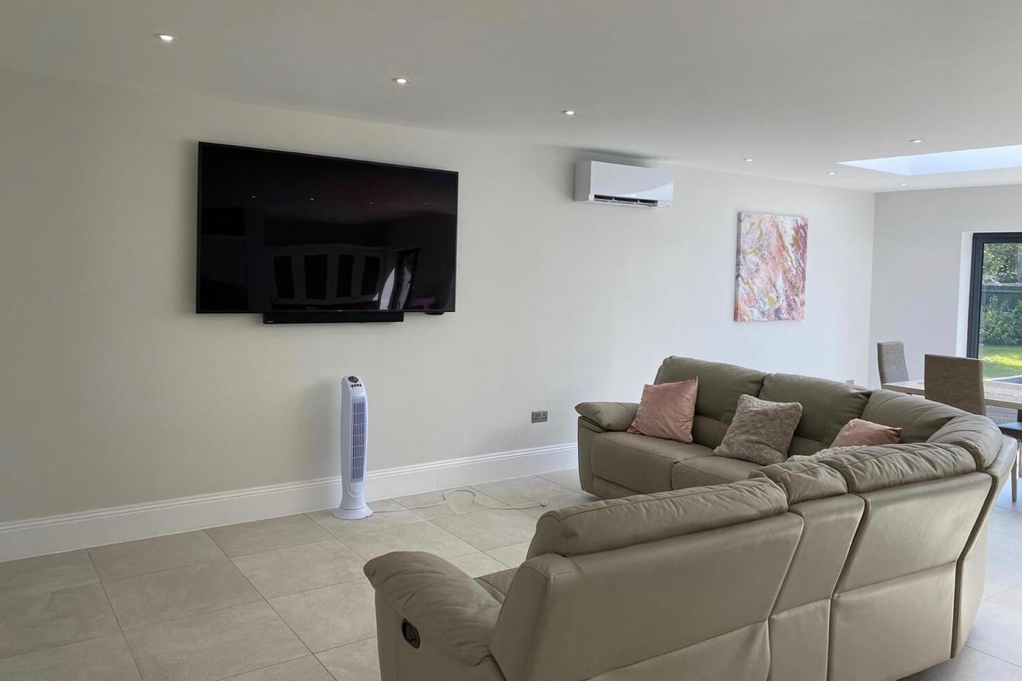 Air conditioning installation in Staines, Surrey, white Mitsubishi Electric Zen units