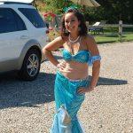 Truro 300 Parade - Mermaid Posing