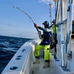 Stand up Giant Bluefin Tuna Fishing Cape Cod