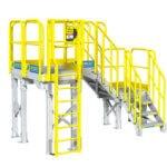 Metal Stairs with Intermediate landings