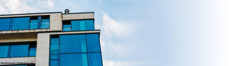 Architektur, modern, Fenster, Glas, Glasfassde, hell