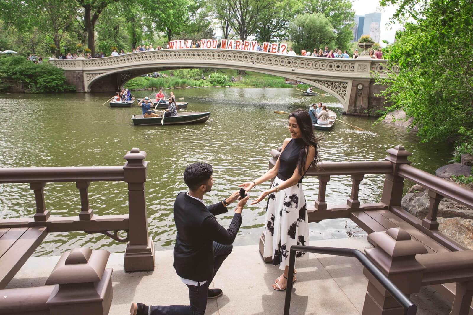Photo Bow Bridge view proposal in Central Park   VladLeto