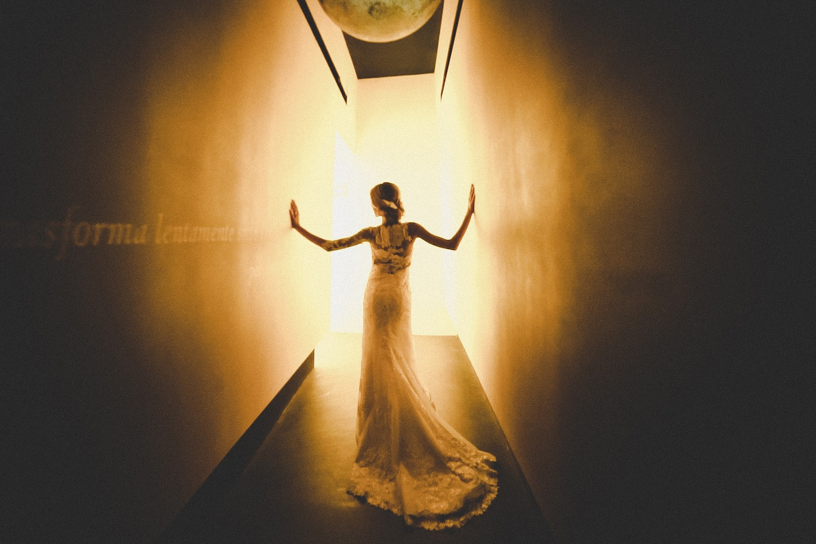 suggestive image of a trash the dress