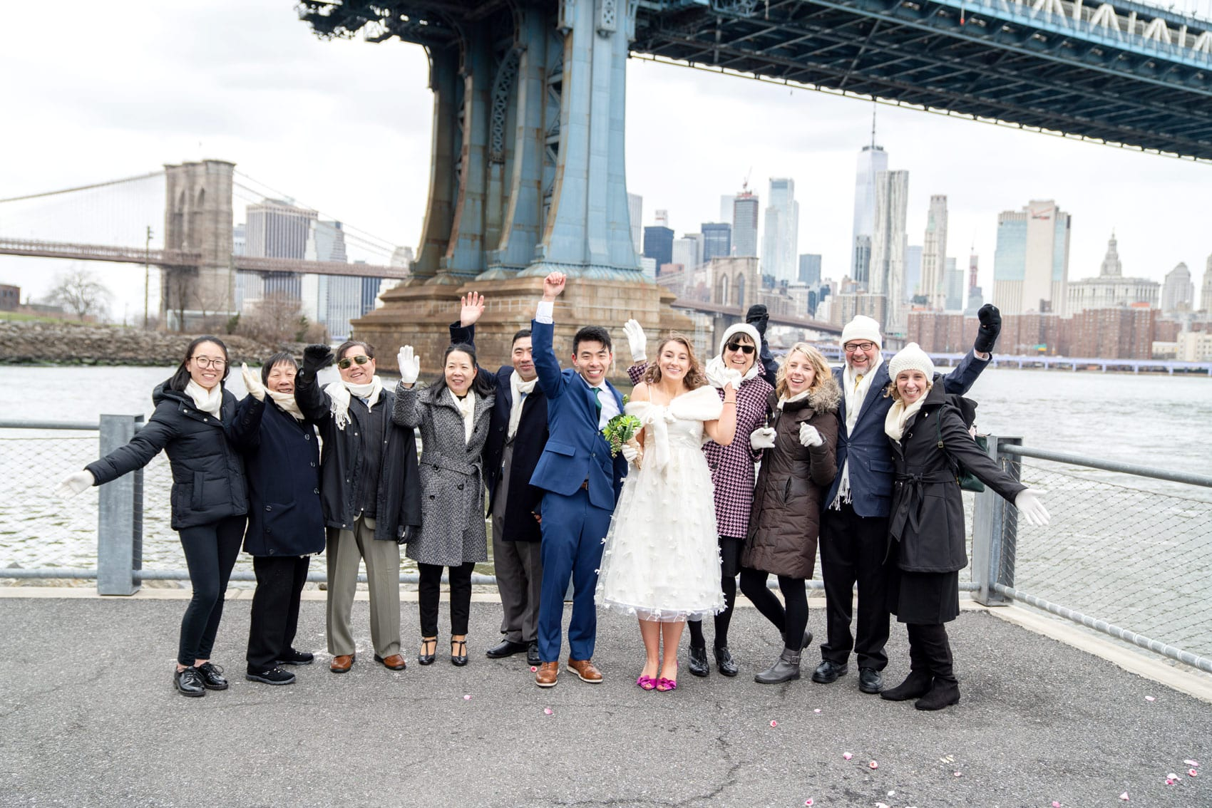 Photo 25 Cathy and Alan Dumbo Brooklyn Wedding in New York City