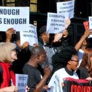 Protest against corruption. Image: Corruption Watch.