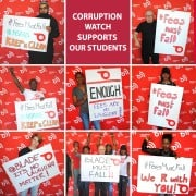 Corruption Watch shows support for students.
